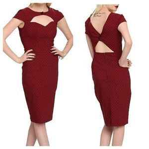 Hellbunny Sandy dress- stretch wiggle back cutout